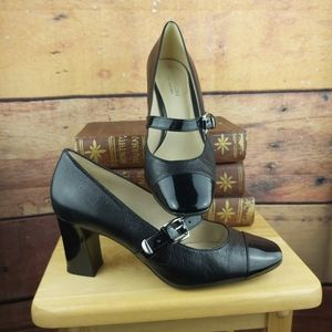 Mary Jane heeled leather comfort shoes 7.5M